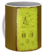 Bicycle Patent Drawing 4d Coffee Mug