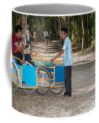 Bicycle Taxi Inside The Coba Ruins  Coffee Mug