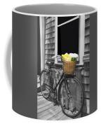 Bicycle With Flower Basket Coffee Mug