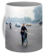 Bicyclist In Beijing Coffee Mug
