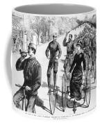 Bicyclist Meeting, 1884 Coffee Mug