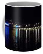 Bideford Long Bridge At Night Coffee Mug