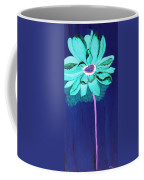 Big Aqua Flower Coffee Mug