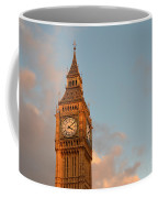 Big Ben Tower With Blue Sky And Some Clouds Coffee Mug