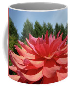 Big Dahlia Flower Blooming Summer Floral Art Prints Baslee Troutman Coffee Mug