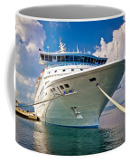 Big Docked Cruise Ship View Coffee Mug