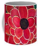 Big Red Zinnia Flower Coffee Mug