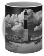 Big Sable Lighthouse Under Cloudy Skies Coffee Mug