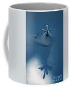 Big Shadow Of A Small Tree On The Snow Coffee Mug