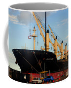 Big Tanker In The Harbor Coffee Mug
