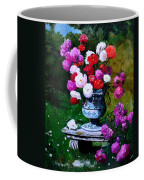 Big Vase With Peonies Coffee Mug