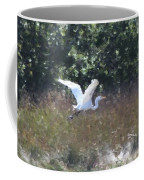 Big White Bird Flying Away Coffee Mug