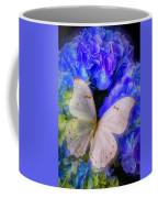 Big White Butterfly Coffee Mug