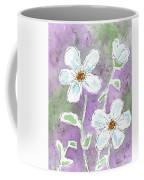 Big White Flowers Coffee Mug