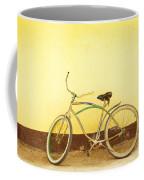 Bike And Yellow Wall Coffee Mug