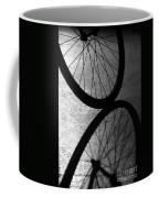 Bike Wheel Shadow Coffee Mug by Yali Shi