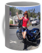 Biker Girl. Model Sofia Metal Queen Coffee Mug