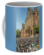 Bikes In Front Of Dutch University Coffee Mug