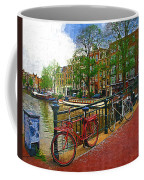 Bikes On The Bridge Coffee Mug