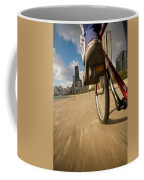 Biking Chicagos Lakefront Coffee Mug