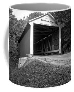 Billie Creek Covered Bridge Black And White Coffee Mug