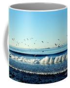 Billowing White Waves And Seagulls Coffee Mug