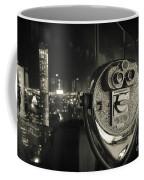 Binocular In New York City, Image In Grunge And Retro Style. Coffee Mug