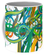 Bipolar Mania Rollercoaster Abstract Coffee Mug