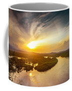 Bira River At Sunset. Coffee Mug