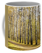 Birch Alley In Autumn Coffee Mug