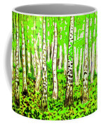 Birch Forest, Painting Coffee Mug