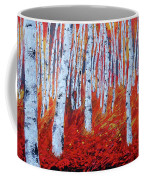 Birch In Gold Coffee Mug
