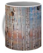 Birch Trees - Clouds Coffee Mug