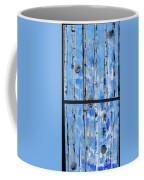 Birch Trees - Blue Coffee Mug