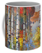 Birch Trees By The Lake Coffee Mug