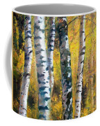 Birch Trees In Golden Fall Coffee Mug