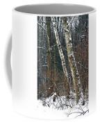 Birches During A Snowfall Coffee Mug