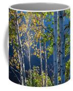 Birches On Lake Shore Coffee Mug