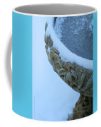 Bird Bath In The Snow Coffee Mug