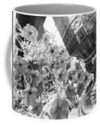 Bird Feeder And Flowers Coffee Mug
