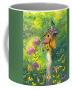 Bird House And Bluebird  Coffee Mug