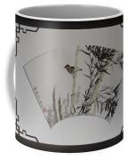 Bird In Bamboo- Fan Painting Coffee Mug