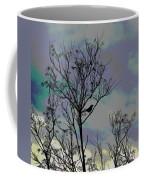 Bird In Tree Silhouette Iv Abstract Coffee Mug