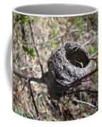 Bird Nest In Wild Rose Bush Coffee Mug