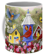 Bird Painting - Primary Colors Coffee Mug by Crista Forest