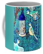 Bird People The Bluetit Family Coffee Mug by Sushila Burgess