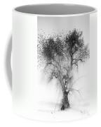 Bird Tree Land Bw Fine Art Print Coffee Mug