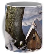 Birdhouse In Snow Coffee Mug