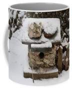 Birdhouse In The Snow Coffee Mug