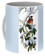 Birds 05 Varied Thrush On Arbutus Robert Bateman Sqs Robert Bateman Coffee Mug